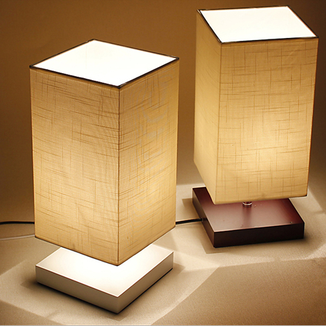 Dimmer Modern Table Lamp Brief Style Solid Wood Fabric Lampshade Living Room Bedroom Home Decoration E27 110 240v