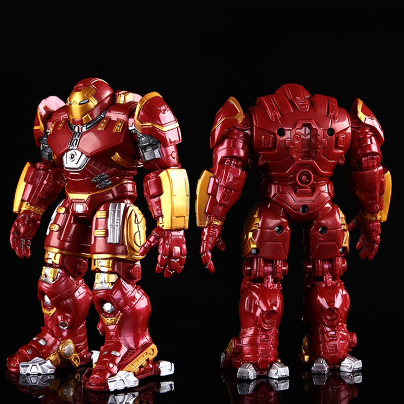 Avengers 2 Iron Man Hulkbuster Armor Joints Movable 18CM Mark With LED Light PVC Action Figure Collection Model Toy #E hot toy 16cm avengers 2 thor loki villain heros action figure collectible pvc model toy movable joints doll for kids gifts