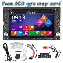 2 din Car pc dvd gps navigation for two din car map dvd player autoradio multimedia stereo audio SD USB Bluetooth steering wheel