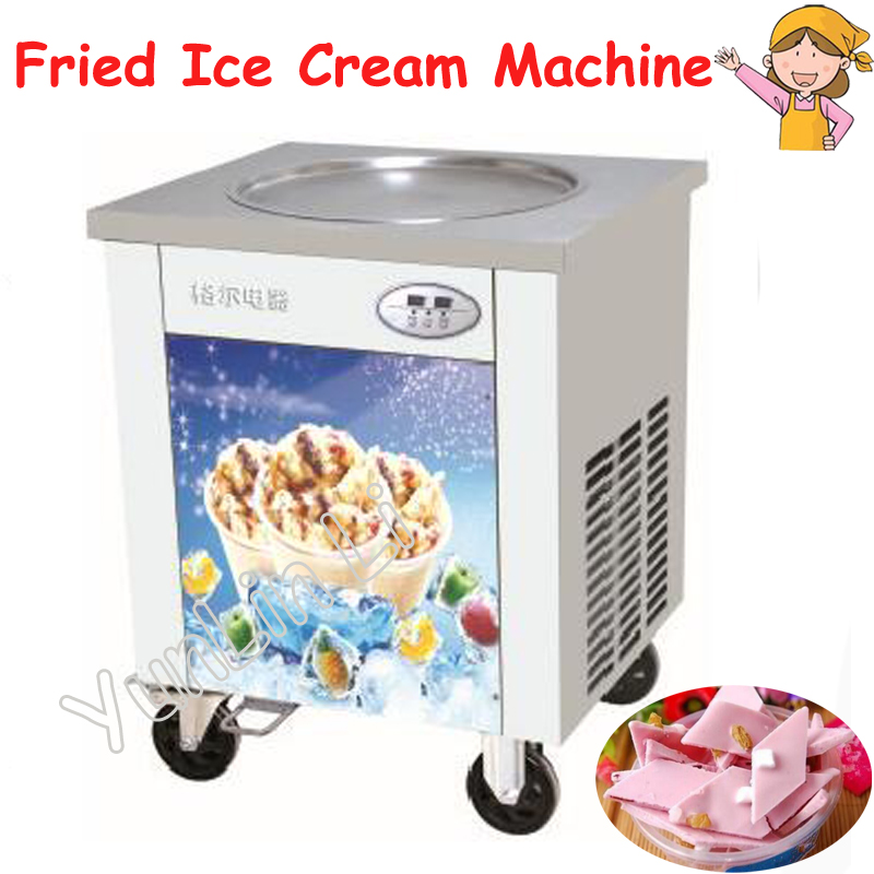 One Pan Fried Flat Ice Cream Maker 220V Commercial Fried Ice Cream Machine Yoghourt Ice Rolls Fried Cream Machine CBJY 1DA Ice Cream Makers     - title=