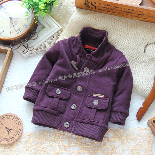 Free shipping male children outerwear top cardigan sweat cool baby boy sweater baby &kids top spring and autumn