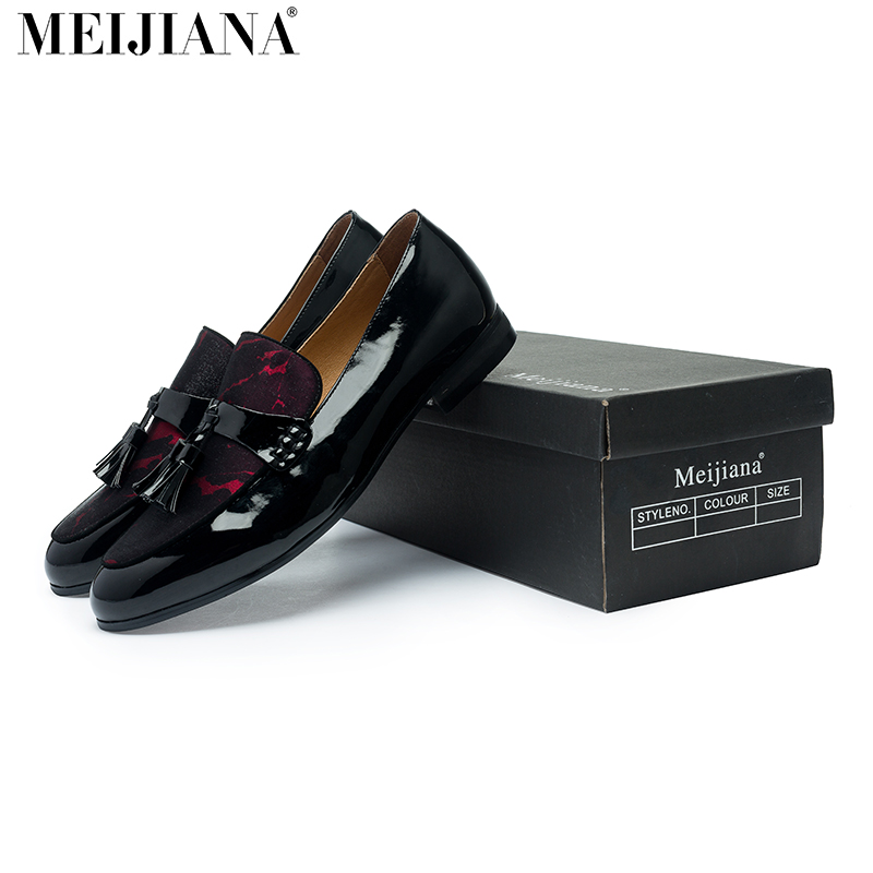 MeiJiaNa Brand Fashion Soft Artificial Leather Breathable Men s Shoes Slip on Mocassins Men Loafers Red