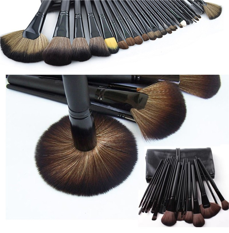 24 Pcs Makeup Brush Sets with Bag for Blending Foundation and Powder Suitable for Contouring and Highlighting 25