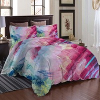 Abstract Paint stroke Bedding Quilt Cover Duvet Cover Set Pillowcase Microfiber Soft Comforter Bedroom Single Queen King