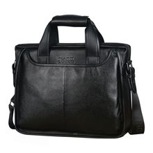 New Fashion cowhide male commercial briefcase Real Leather vintage men's messenger bag casual Natural Cowskin Business bag