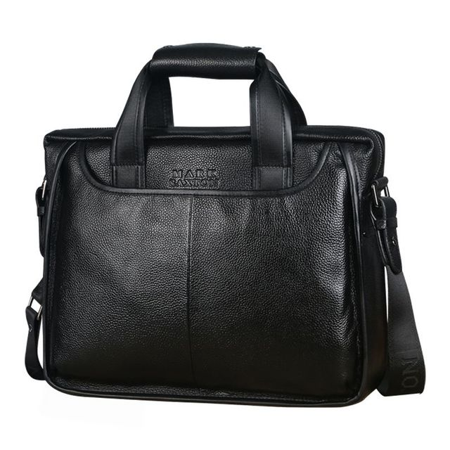 New Fashion Natural Cowhide Men Commercial Briefcase