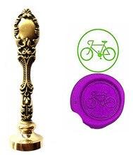 Bike Vintage Custom Picture Logo Luxury Wax Seal Sealing Stamp Brass Peacock Metal Handle Gift Set