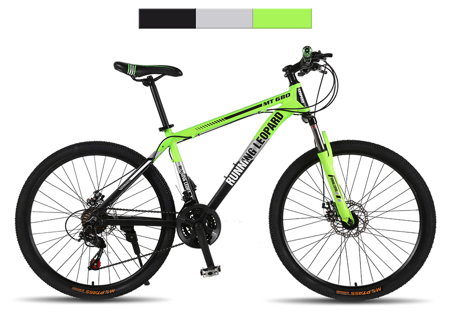 HTB1RjhhXtfvK1RjSspfq6zzXFXab Running Leopard mountain bike 26-inch steel 21-speed bikes double disc brakes variable speed road bikes racing bike