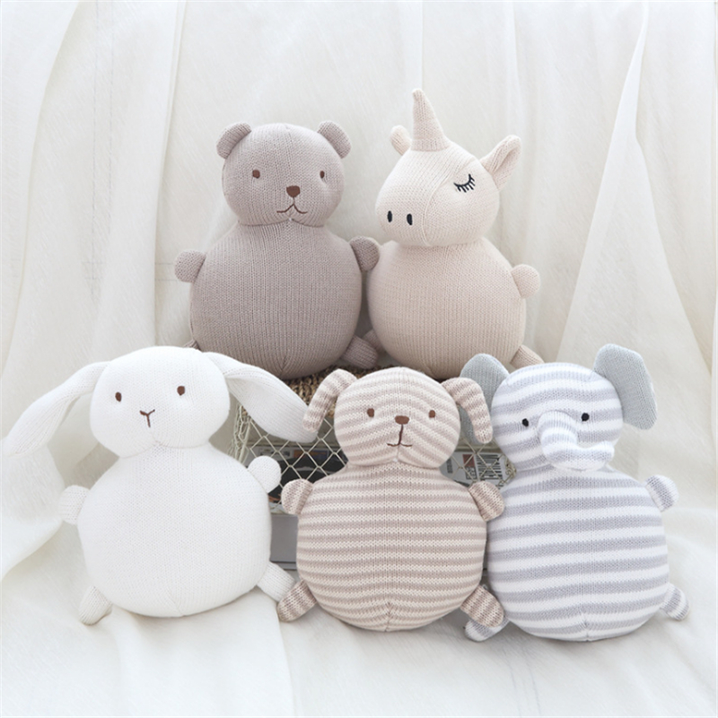 Baby Rattle Toys Doll Baby Soft Knitting Toys Children Sleeping Mate Stuffed &Plush Animal Baby Toys Gift Christmas For Infant