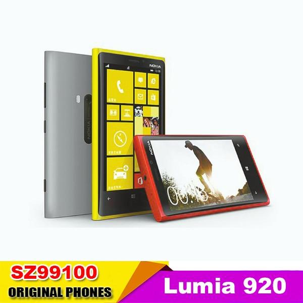 """Цена за Разблокирована Nokia Lumia 920 Оригинальные ОС windows телефон Dual Core 4.5 """"с WI FI GPS 32 ГБ 8MP камера Бесплатная Доставка Восстановленное"""