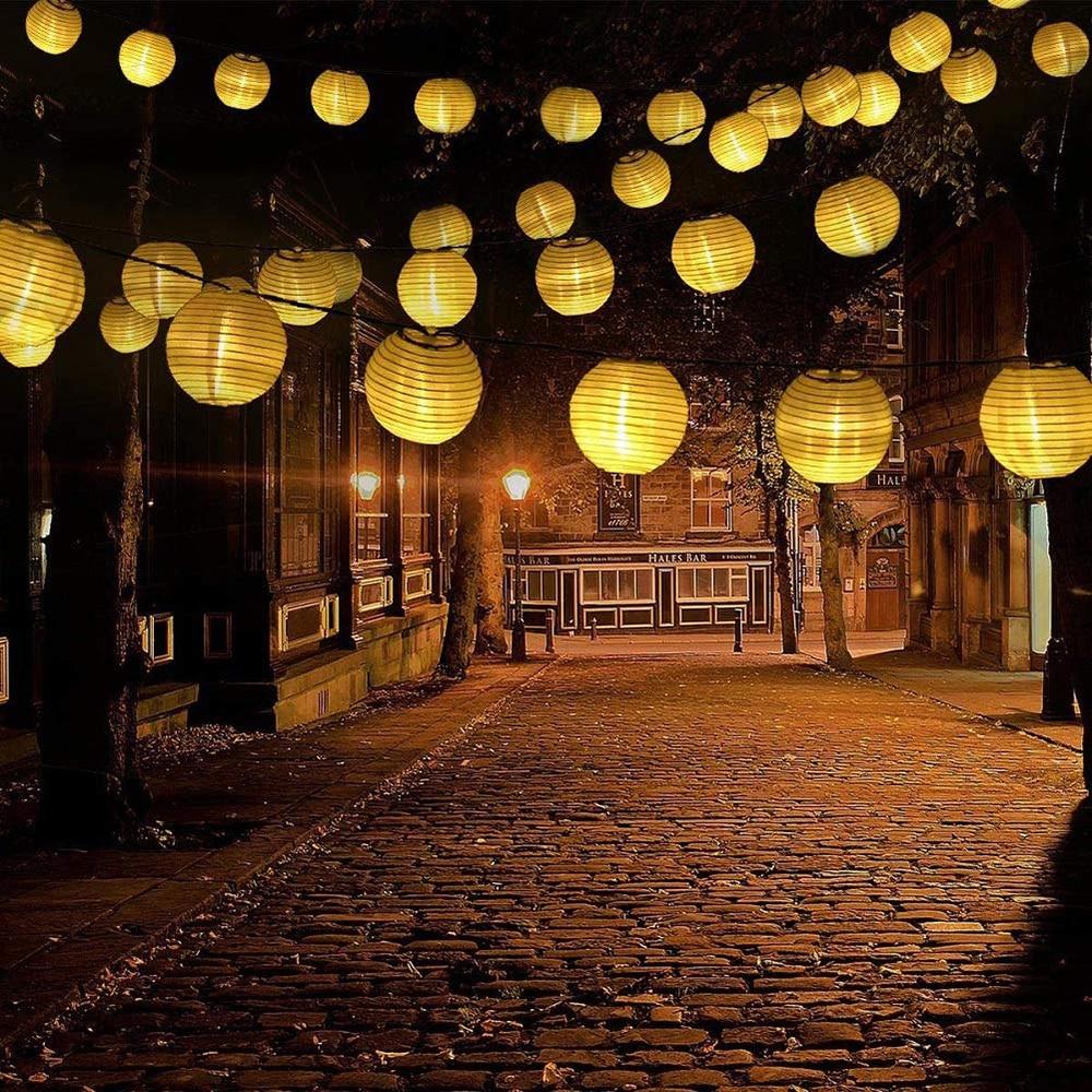 Outdoor Solar Lantern Ball String Lights 10/20/30LEDs Waterproof Patio Party Wedding Christmas Solar Globe Garland Fairy Light