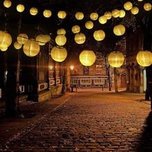 цена на Outdoor Solar Lantern Ball String Lights 10/20/30LEDs Waterproof Patio Party Wedding Christmas Solar Globe Garland Fairy Light