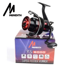 Meredith 5BB+1RB 10KG 22LB 5.2:1 Double Drag REAR Spinning Reel Larger Spool Max Drag Sea Boat Spinning Fishing Reel