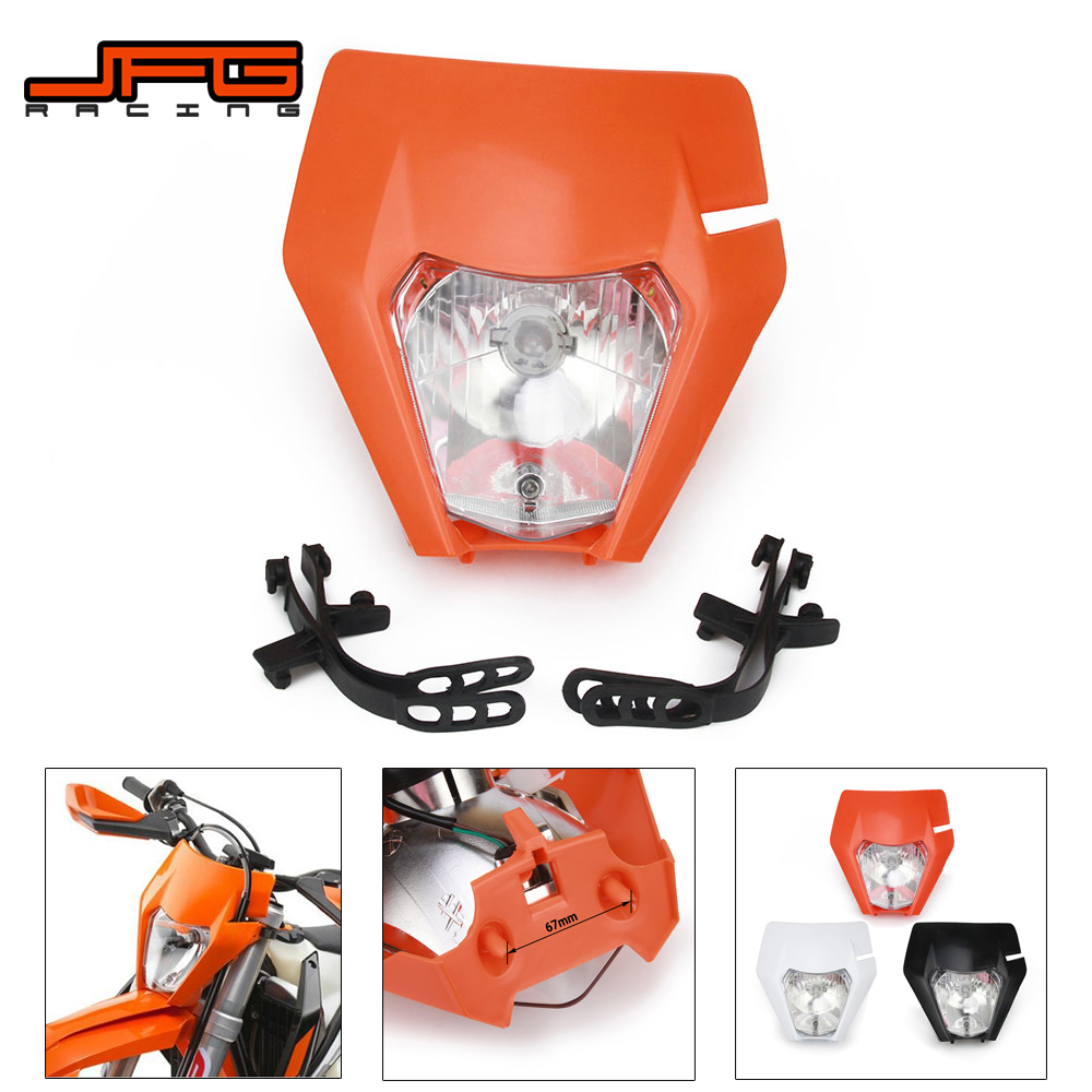 New 2017 Motorcycle Supermoto Universal Headlamp Headlight Light For KTM EXC EXCF SXF SX XC XCW XCF XCFW 125 150 250 350 450 530