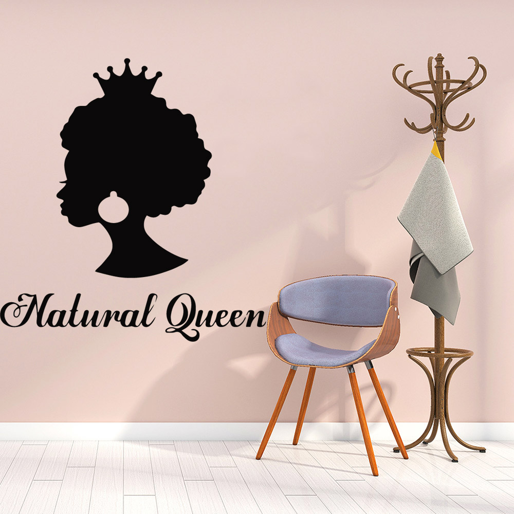 Delicate natural queen Wall Stickers Home Decor For Girls Bedroom Sticker Kids Room Nature Decor Vinyl Art Decals adesivi murali in Wall Stickers from Home Garden