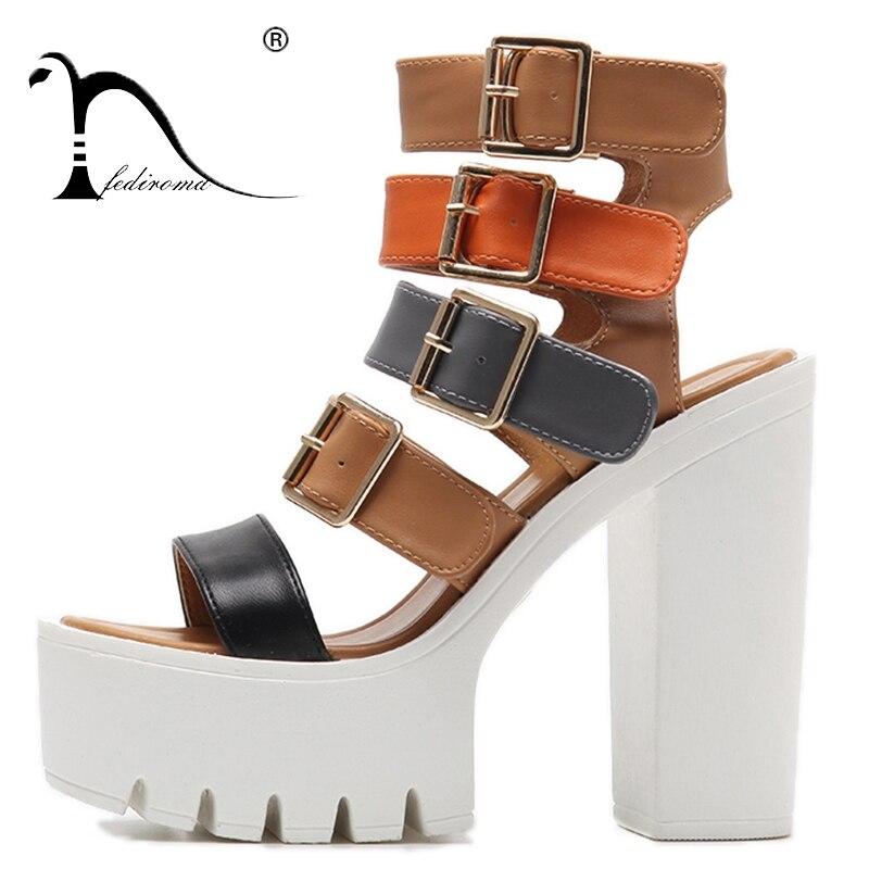 De Mode Gladiateur Hauts Pour Fediroma Black brown Talons D'été forme Boucle Femmes Femme Sandales Plate Pompe Starp Noir Chaussures trXwPqYw
