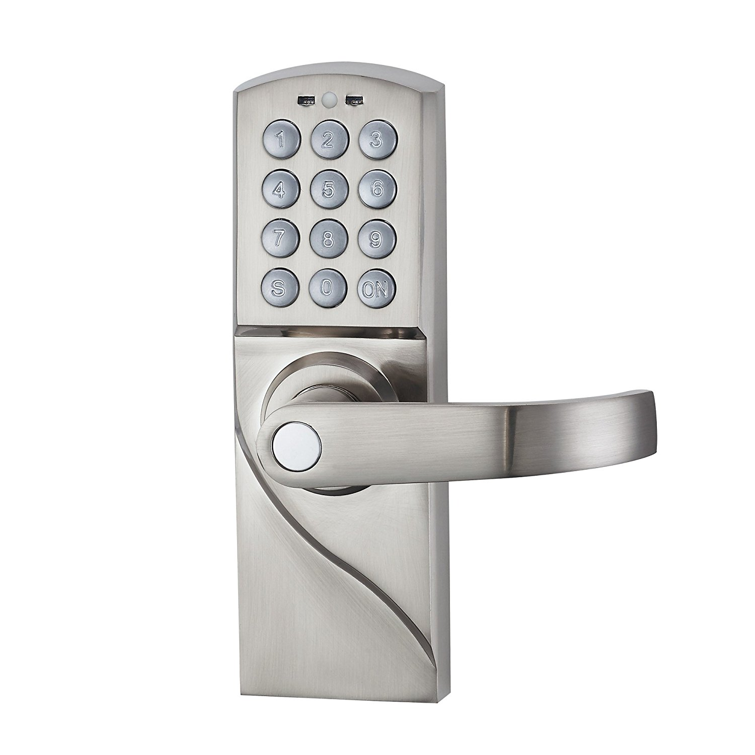 Digital Keypad Door Lock with Backup Keys Electronic Keyless Entry by Password Code Combination ospon digital keypad door lock with backup round key locker electronic entry by password code combination password key os7717