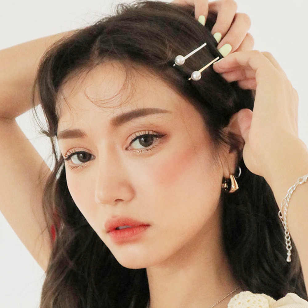 M Mism Mutiara Rambut Klip untuk Wanita Fashion Manis Imitasi Gaya Korea Jepit Rambut Paduan BB Headmade Gadis INS Aksesoris Rambut