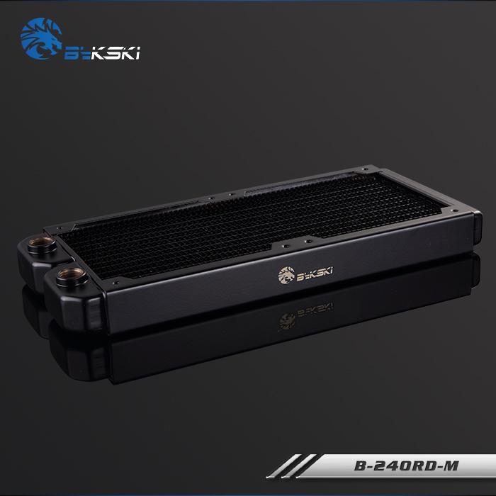 BYKSKI 28mm Cuivre Épais 240mm D'évacuation D'eau de L'ordinateur Liquide Échangeur de Chaleur Unique Rangée Radiateur pour 12 cm fans B-240RD-M