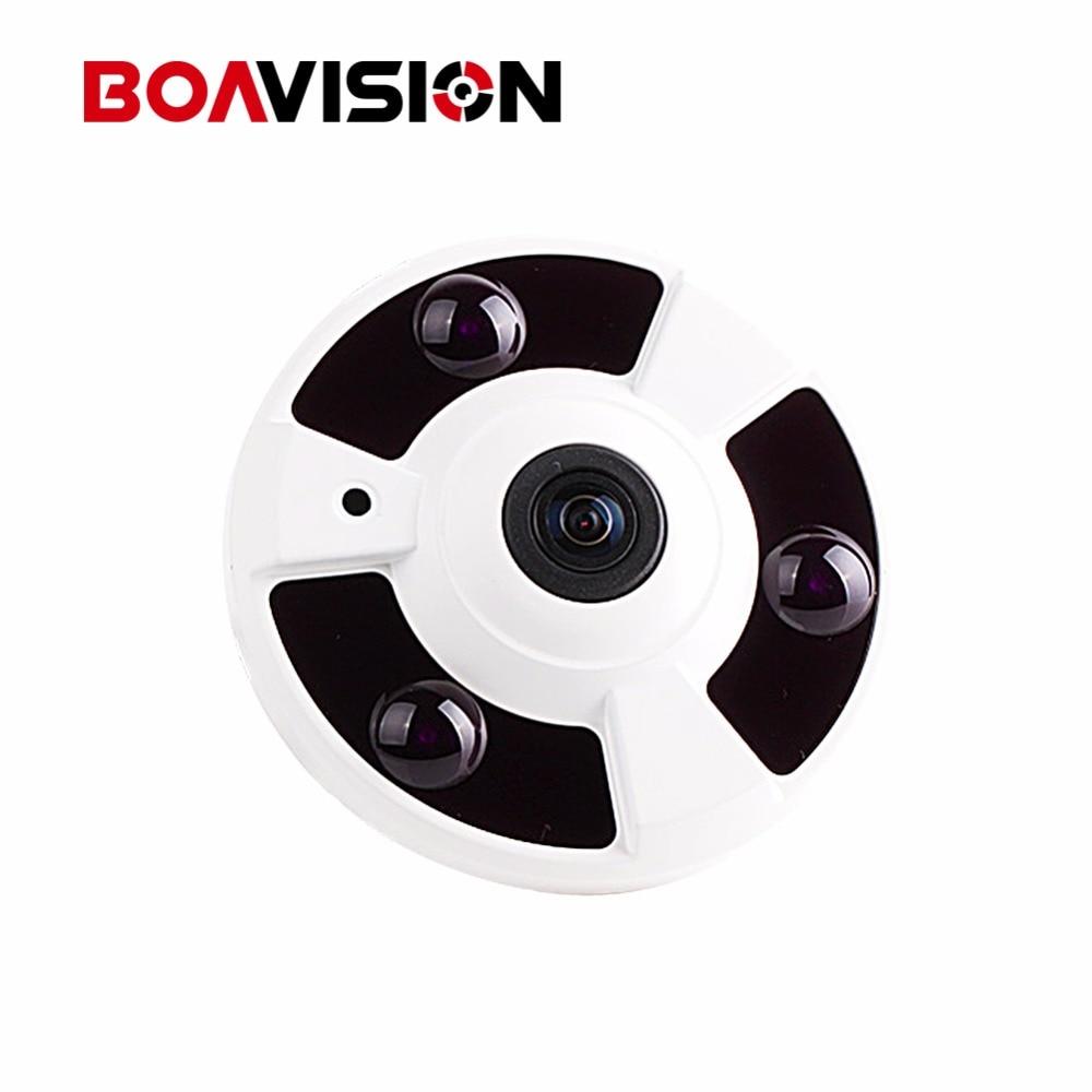 720P IP Camera (POE Optional) Onvif Fisheye Lens IR Night Vision HD Security CCTV Surveillance Camera 1.0MP P2P XMEye APP View indoor fisheye ip camera poe onvif 170 degree 1 8mm panoramic lens 15m ir night vision 720p hd ip network camera 960p