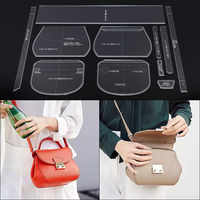 1Set DIY Home Handmade Bag Sewing Acrylic Leather Template Lady Shoulder Handbag Sewing Patterns