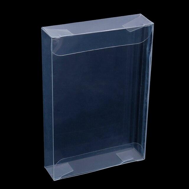 10 יח\חבילה ברור שקוף עגלות תיבת מקרה עבור Nintend N64 מחסנית מ.ח. מגיני