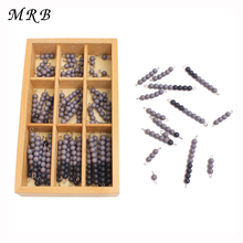 Wooden Baby toys Montessori Educational Gray black Board Beads Math Toys Early Childhood Preschool Toys