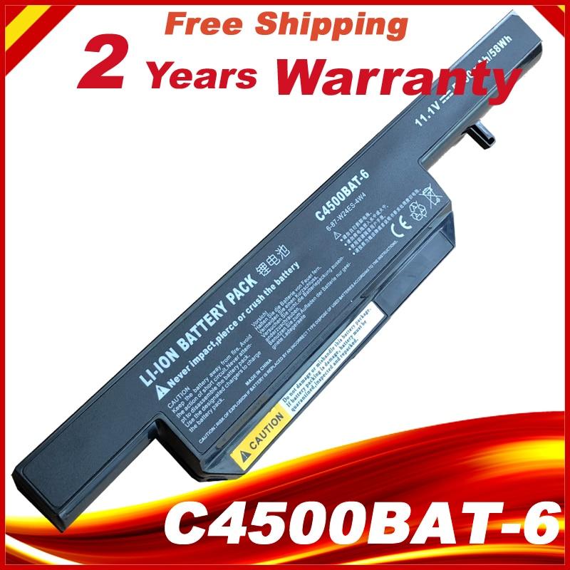 Bateri markë e re laptopë C4500BAT-6 C4500BAT6 6-87-C480S-4P4 për Clevo C4500 C4500 C4500Q W150 W150DAQ W150HNM W150HNQ