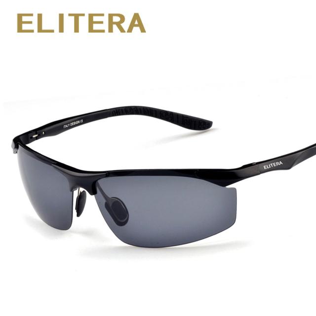 ELITERA Brand Men's Aluminum Magnesium Sun Glasses HD Polarized UV400 Sun Glasses oculos Male Eyewear Sunglasses For Men