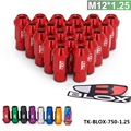 TANSKY - Blox Forged 7075 Aluminum Racing WheelLug Nuts P 1.25, L: 50mm 20Pcs/Set  TK-BLOX-750-1.25