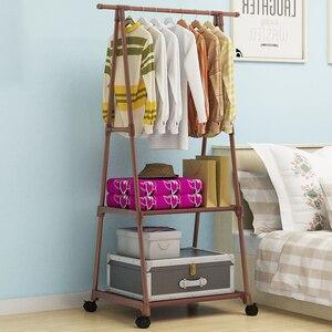 Image 3 - União mágica criativo multi funcional rack de roupas simples cabide cabide móvel casa quarto piso em pé roupas cabide