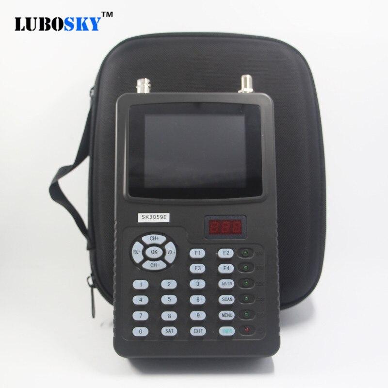 Прибор для настройки спутниковой антенны hd Тесты камеры видеонаблюдения Подсветка ЖК дисплея кнопки 3,5 дюймов DVB S/S2 сигнала Тесты с av usb выхо