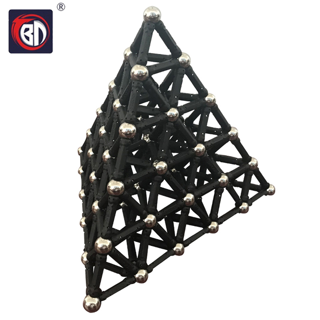BD New Black White Magnet Bars & Metal Balls Magnetic Construction Creative Toys DIY Designer Educational Toy For Children Gifts