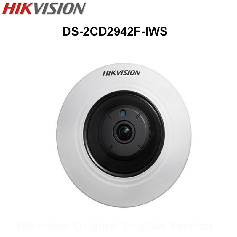 In Stock Hikvision Original English Security WIFI Camera DS-2CD2942F-IWS 4MP Compact Fisheye IP Camera POE Audio CCTV Camera touchstone teacher s edition 4 with audio cd