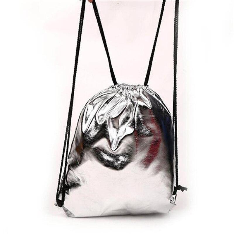 1 Pc Kordelzug Tasche Mit Pu Lederband Tasche Zu Halten Tasche Einfarbig Geschenk Sport Kleine Mini Reisetaschen