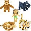 O Livro Da Selva animal dos desenhos animados plush doll Mowgli/Tige/cobra/urso/leopard enchidos & brinquedos do luxuoso para o bebê