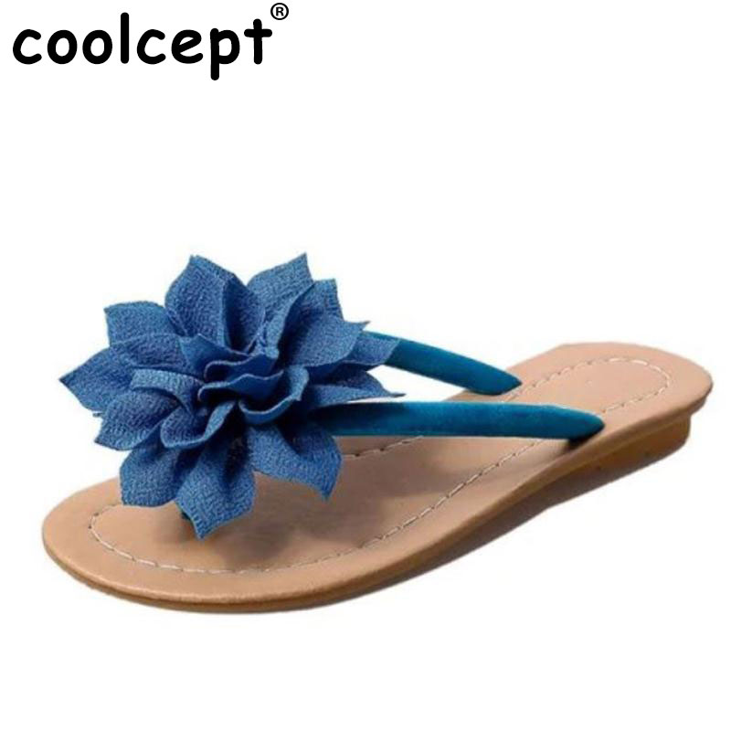 Coolcept flower brand quality leisure women sandals slippers summer shoes beach flip flops women footwear size 36-40 WB0167