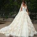 Recentes White Lace Weeding Vestido Apliques vestido de Baile Querida Vestidos de Casamento Cap Manga Vestidos de Noiva Com Lace Up