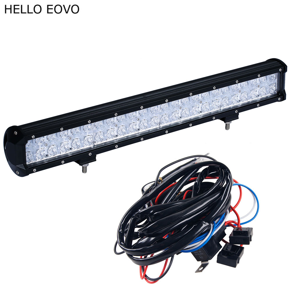 HELLO EOVO 7D 22 Inch 240W LED Light Bar for Work Indicators Driving Offroad Boat Car Tractor Truck 4x4 SUV ATV hello eovo 5d 32 inch curved led bar led light bar for driving offroad boat car tractor truck 4x4 suv atv with switch wiring kit