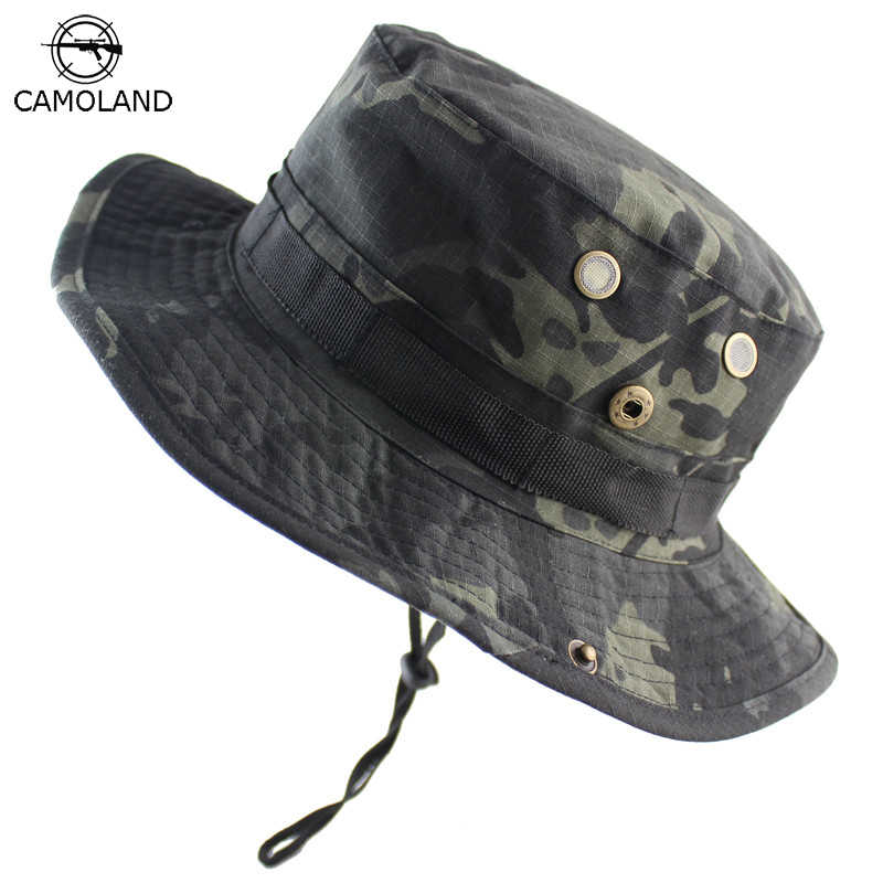 7836f6e57981 Detail Feedback Questions about Men Women Bucket Hat Outdoor Fishing Boonie Hat  UV Protection Panama Hat Hiking Sombrero Army Tactical Camouflage Sun Hat  ...