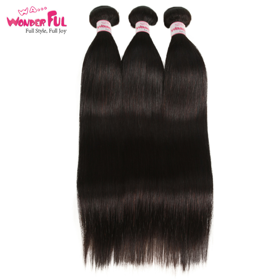 Joedir Hair-brasilianska hårvävsknippen med stängning, rakt hår - Skönhet och hälsa - Foto 2