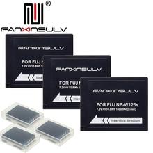 3x NP-W126S NP W126S Battery + 3 box for Fujifilm Fuji XT3 XA5 XT20 XT2 XT1 XH1 XT10 XE3 X100F SHIP WITH TRACKING NUMBER