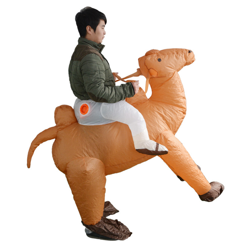 Camel Ride-on Inflatable Costumes Anime Cosplay Clothes For Adult Halloween Christmas Party Toys Fancy Dress Women Men Clothing