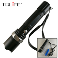 LED Flashlight XM-L T6 5000LM Aluminum Waterproof Zoomable flashlight Torch 3modes for 18650 Rechargeable Battery +USB Charger