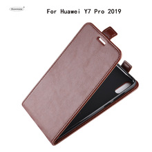 HUDOSSEN For Huawei Y7 Pro 2019 DUB-LX2 Case Luxury Flip PU Leather Silicone Phone Cover Accessories Capa