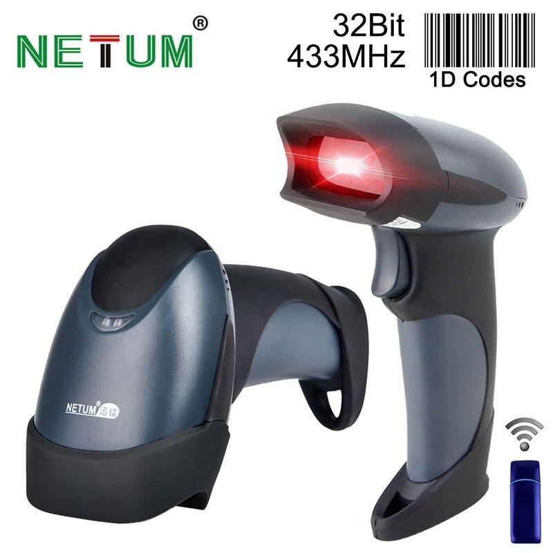 Envío gratuito lector de código de barras inalámbrico de mano 32 bits alta velocidad escaneada inalámbrico POS código de barras escaneo para inventario-NT-M2