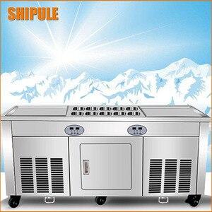 Máquina de frigideira de gelo frita tailândia máquina de rolo de sorvete frito