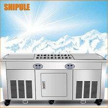 Двухместный pan машина для готовки мороженого Китай жарки льда Пан машина Таиланд жареное мороженое рулонной машины