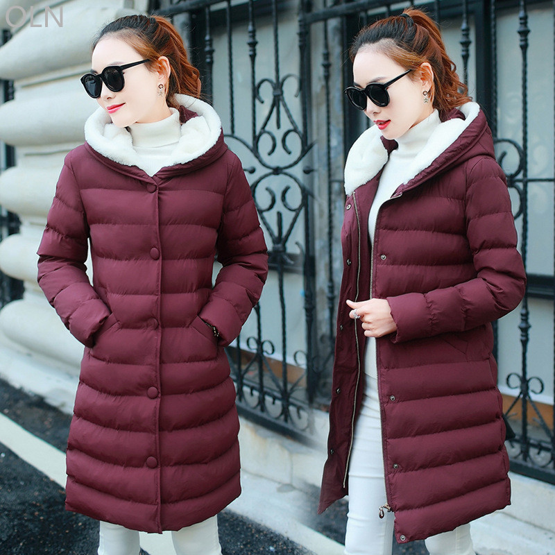 manteau femme 2017 Cheap Winter Jacket Women Hooded Slim Warm Thick Female Coats Ladies Parka Large Size manteau femme hiver men ultra light large size thin parka jacket korean black cardigan china hoody winter overcoat slim warm military manteau homme