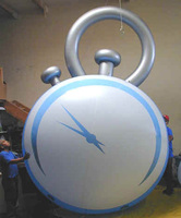 Free shipping cute blue giant advertising inflatable replica products alarm clock model for show